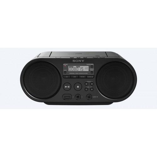 Sony ZS-PS50, přenosný stereo přehrávač Boombox s tunerem AM/FM, černý