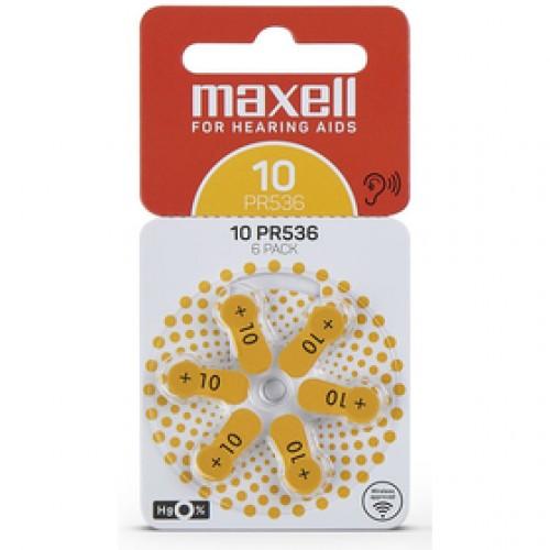 AZ10/PR536 batérie zink. 6ks MAXELL
