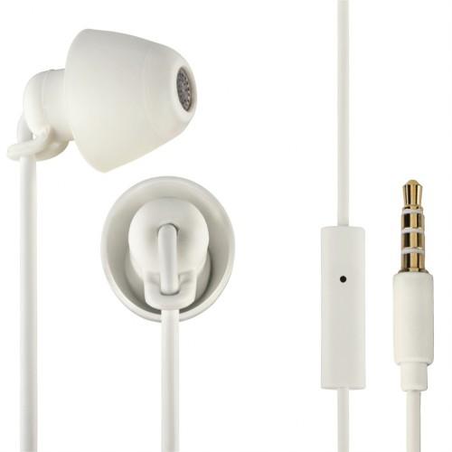 Thomson slúchadlá s mikrofónom EAR3008 Piccolino, mini štuple, biele