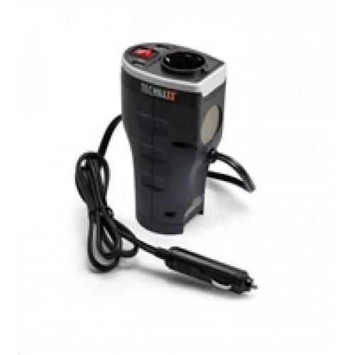 Technaxx nabíječka do auta s měničem, 1x 230V, 2x USB (1x 1A, 1x 2,1A)