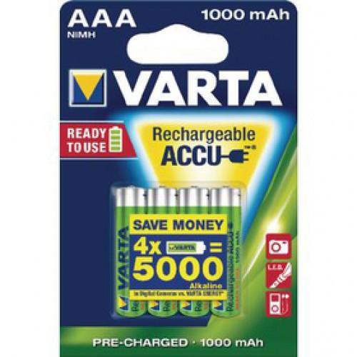HR03 4S AAA NiMH 1000mAh VARTA
