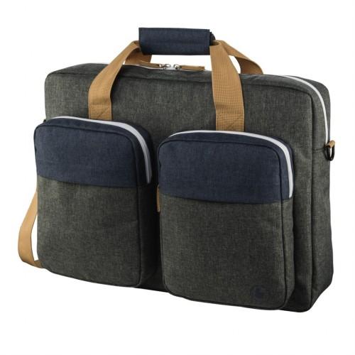 """Hama taška na notebook s vreckami Florenz, 36 cm (14,1""""), šedomodrá"""