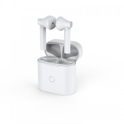 QCY - T7 zcela bezdrátová sluchátka s dobíjecím boxem  - bílá