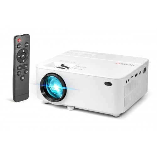 Technaxx Mini LED FullHD projektor, 1080p, 100 ANSI/1800 CLO lumenů, repro 2.1, AV, (TX-113)