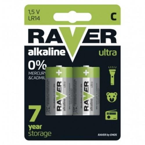 Alkalická batéria RAVER LR14 (C)