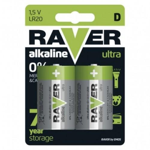 Alkalická batéria RAVER LR20 (D)