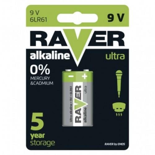 Alkalická batéria RAVER 6LF22 (9V)