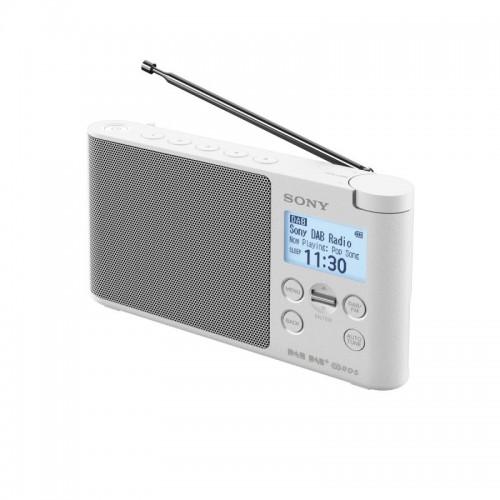Sony XDR-S41D, přenosné digitální rádio DAB/DAB+ s LCD displayem, bílá