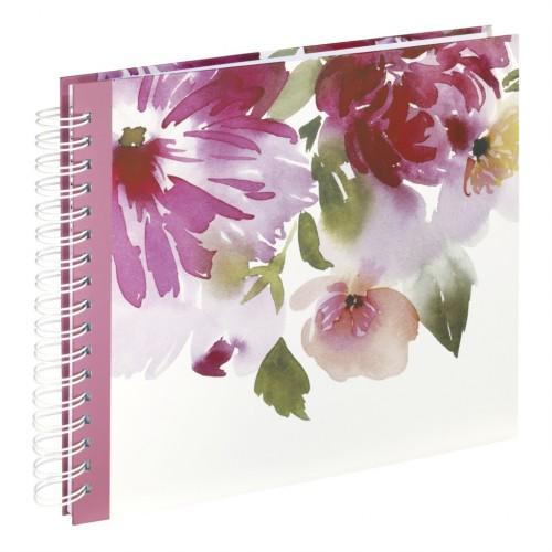 Hama album klasický špirálový WATERCOLOR FLOWER 28x24 cm, 50 strán