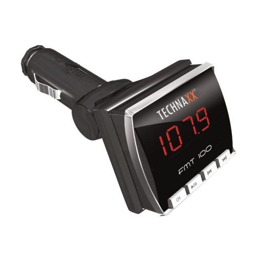 Technaxx FM transmitter + MP3 přehrávač, LCD displej, audio JACK/ USB/SD, DO (FMT100)