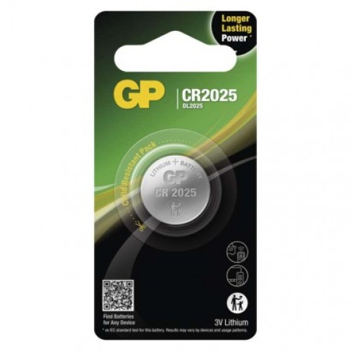 Lítiová gombíková batéria GP CR2025
