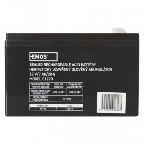 Bezúdržbový olovený akumulátor 12 V/7 Ah, faston 4,7 mm