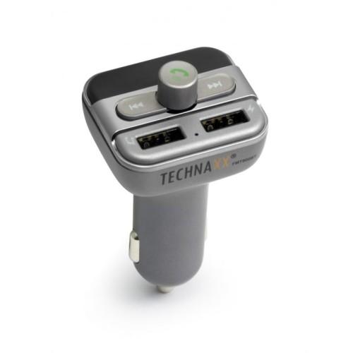 Technaxx FM transmitter + MP3 přehrávač + Bluetooth, LCD display (FMT900BT)