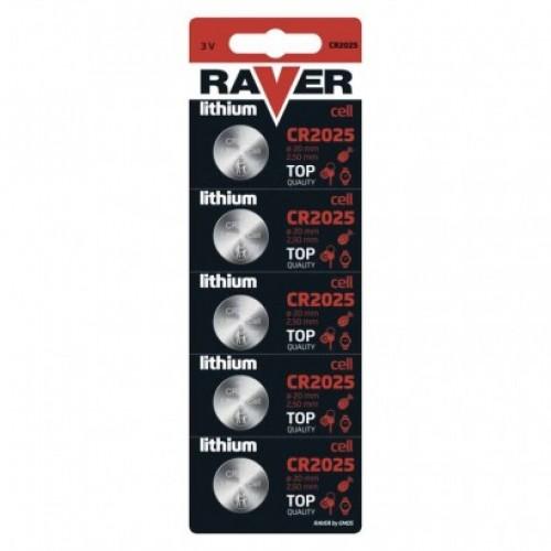 Lítiová gombíková batéria RAVER CR2025