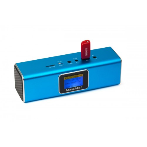Technaxx přenosné Bluetooth rádio a reproduktor MusicMan, DAB/DAB+/FM, modrý (BT-X29)
