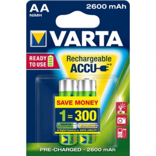 Accu R2u AA/2 HR6 2600mAh bat. VARTA