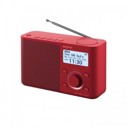 Sony XDR-S61D, přenosné digitální rádio DAB/DAB+ s LCD displayem, červená
