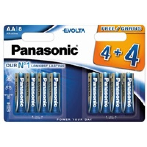 PANASONIC Alkalické baterie EVOLTA Platinum LR6EGE/8BW 4+4F   AA 1,5V (Blistr 8ks)