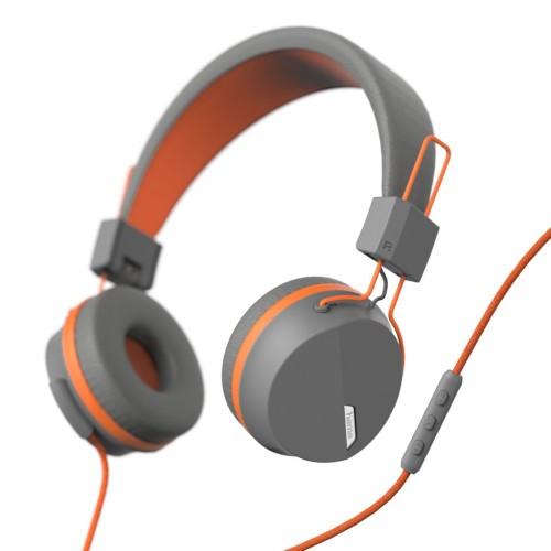 Hama on-ear slúchadlá s mikrofónom Next, šedá/oranžová