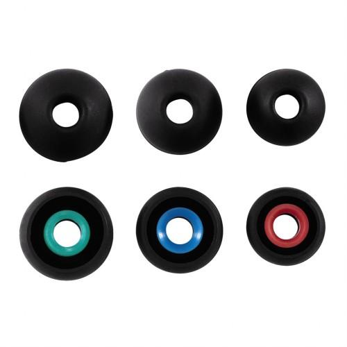 Hama náhradné silikónové štuple, 3 páry, čierne