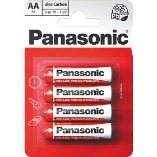 R6 4BP AA Red zn PANASONIC