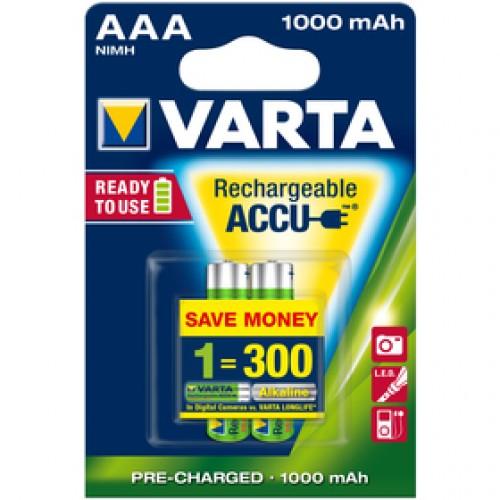 Accu R2U AAA/2 1000mAh bat. VARTA