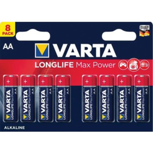 LR6 8BP AA Longlife Max Power VARTA