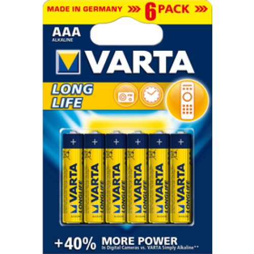 LR03 6BP AAA Longlife Alk VARTA
