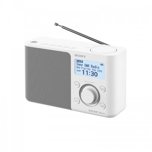 Sony XDR-S61D, přenosné digitální rádio DAB/DAB+ s LCD displayem, bílá