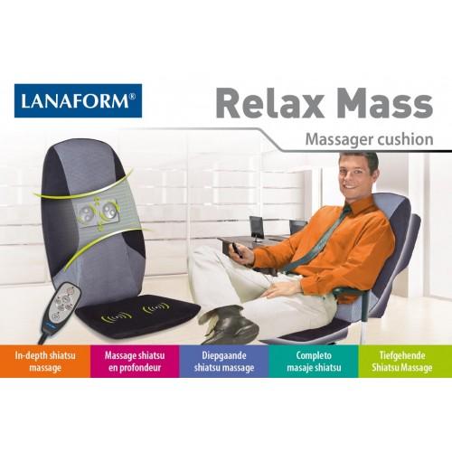 Lanaform Relax Mass : Shiatsu masáž s 2 masážnymi hlavami (Masážne podložky)