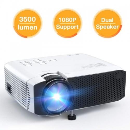 APEMAN Projektor LC350, 1080P full HD, 80 ANSI/3500 LED lumenů, repro