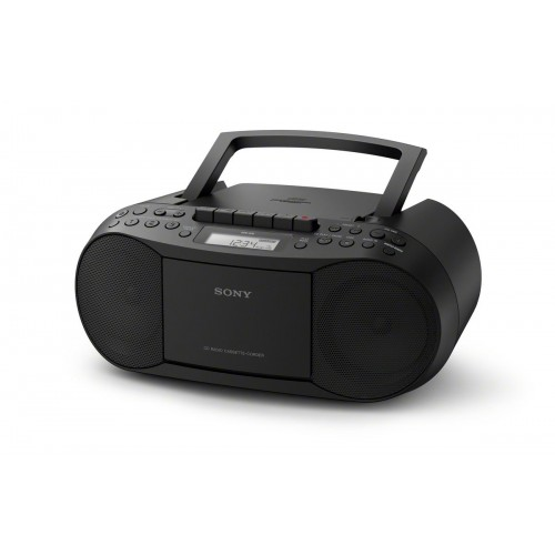 Sony CFDS70B, přenosný stereo přehrávač s tunerem AM/FM, černý