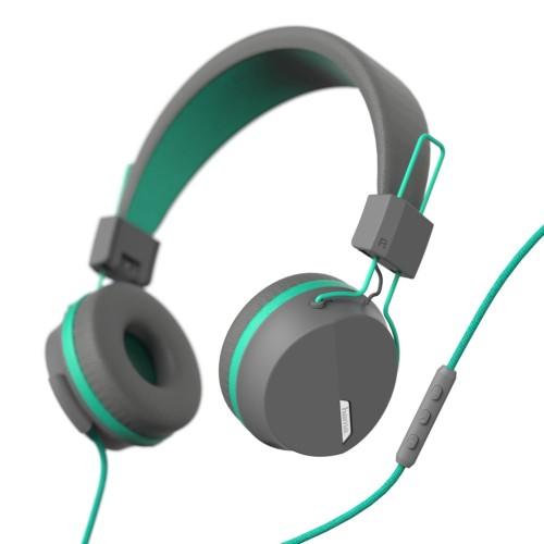 Hama on-ear slúchadlá s mikrofónom Next, šedá/zelená