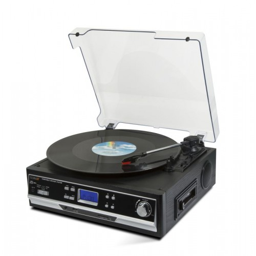 Technaxx USB gramofon/konvertor - převod gramofonových desek a audio kazet do MP3 formátu (TX-22+)