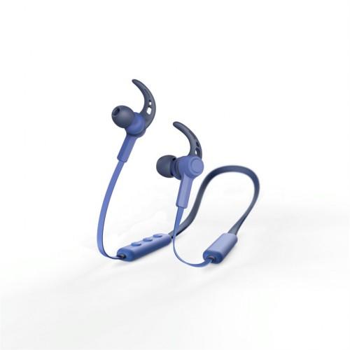 Hama Bluetooth štupľové slúchadlá Connect Neck, modré