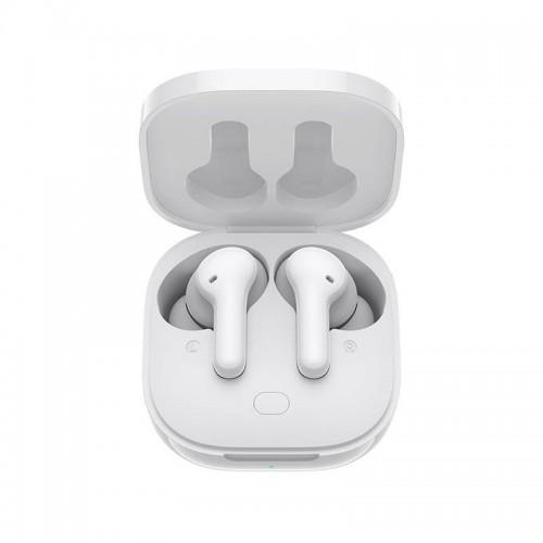 QCY - T13 zcela bezdrátová sluchátka s dobíjecím boxem  - bílá