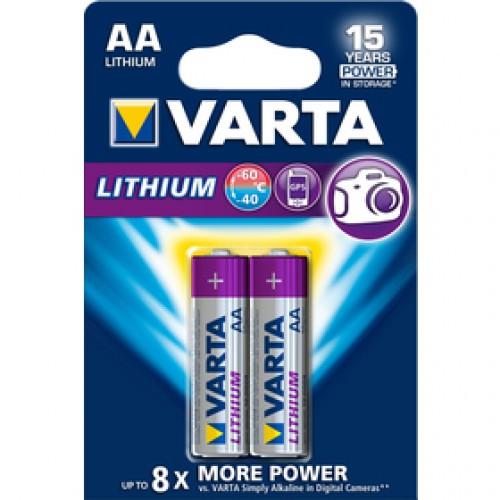 FR6 2BP AA Lithium bat. VARTA